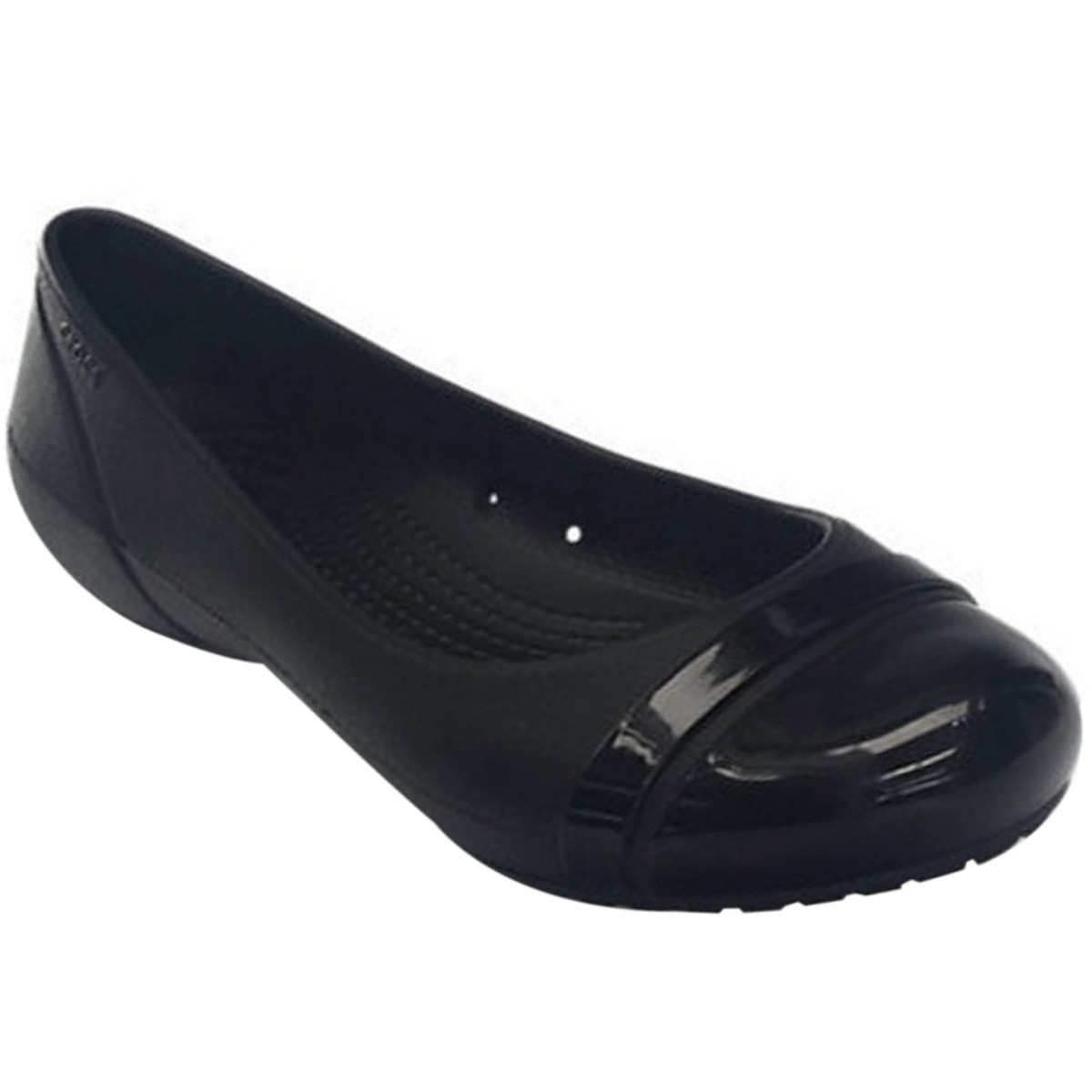 69300bdb5 Sapatilha Crocs Cap Toe Flat 12300 Preto