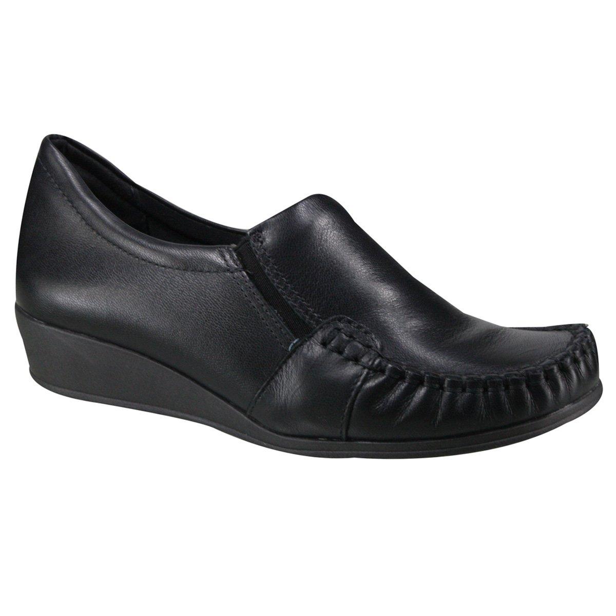 e4d6410ad4 Sapato Anabela Comfortflex 17-93303 Preto (Napa Vestuário)