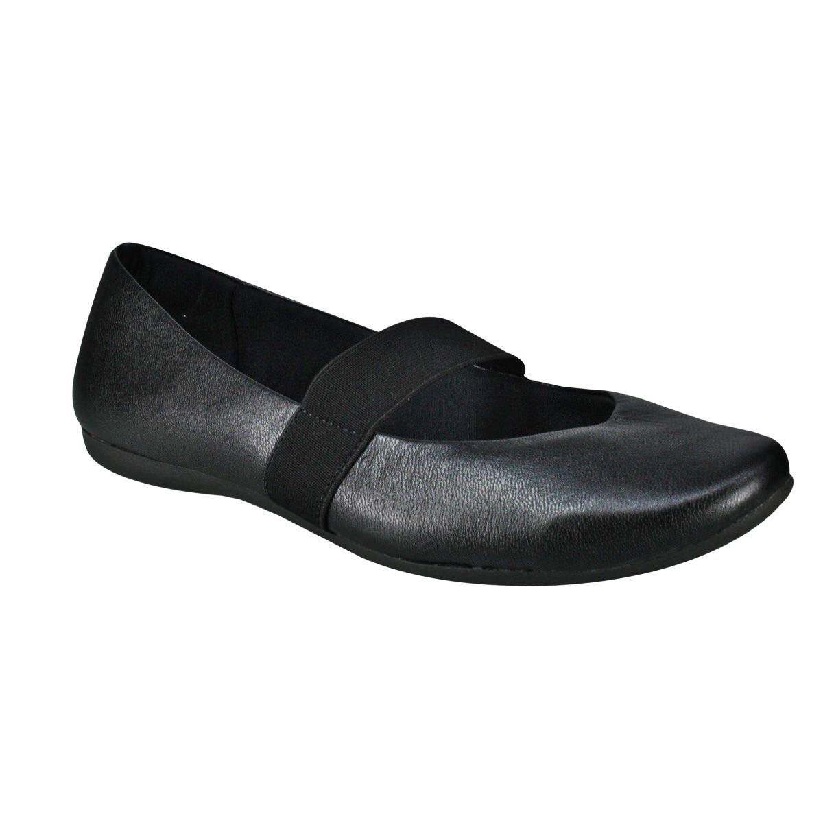 e3463b13e Sapato Boneca Usaflex T7503/50 - Preto (Caprina/Laminado) - Calçados ...