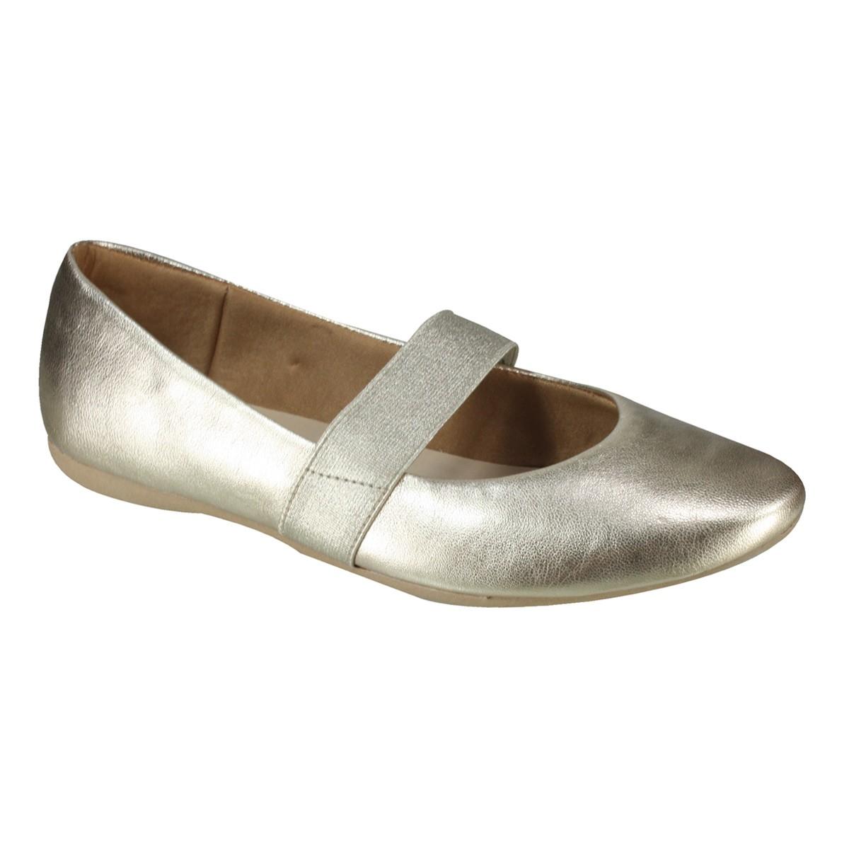 ef3e7c8e67 Sapato Boneca Usaflex T7503 50 - Dourado (Mestiço) - Calçados Online ...