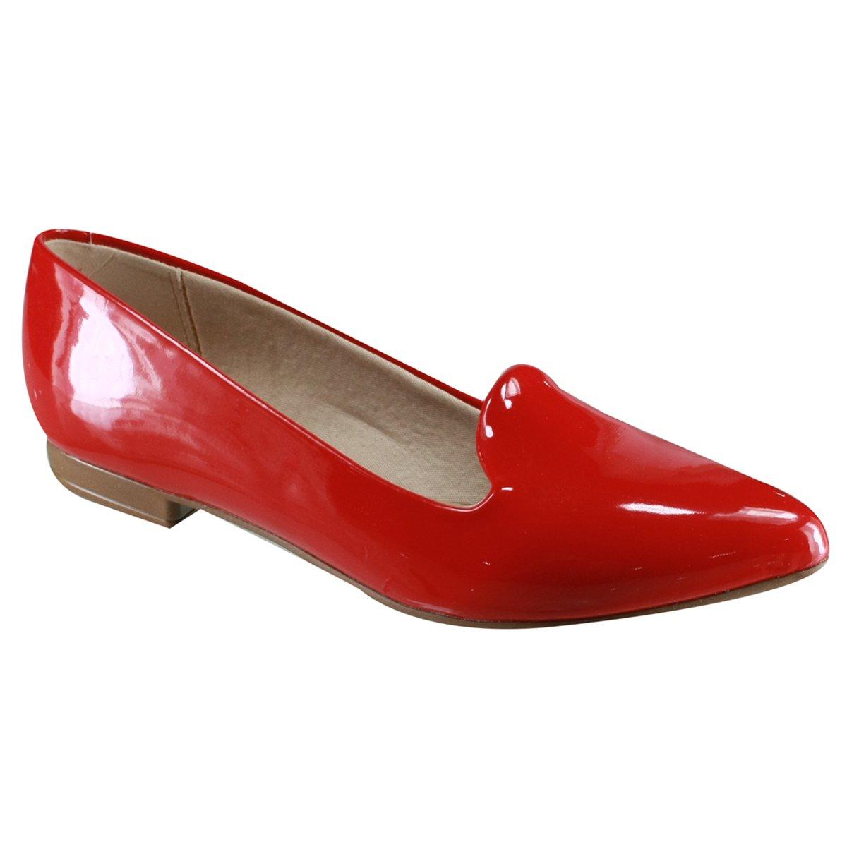 6cf7501e4 Sapato Feminino Beira Rio Conforto 4136.125 13488 46175 Vermelho (Verniz  Premium)