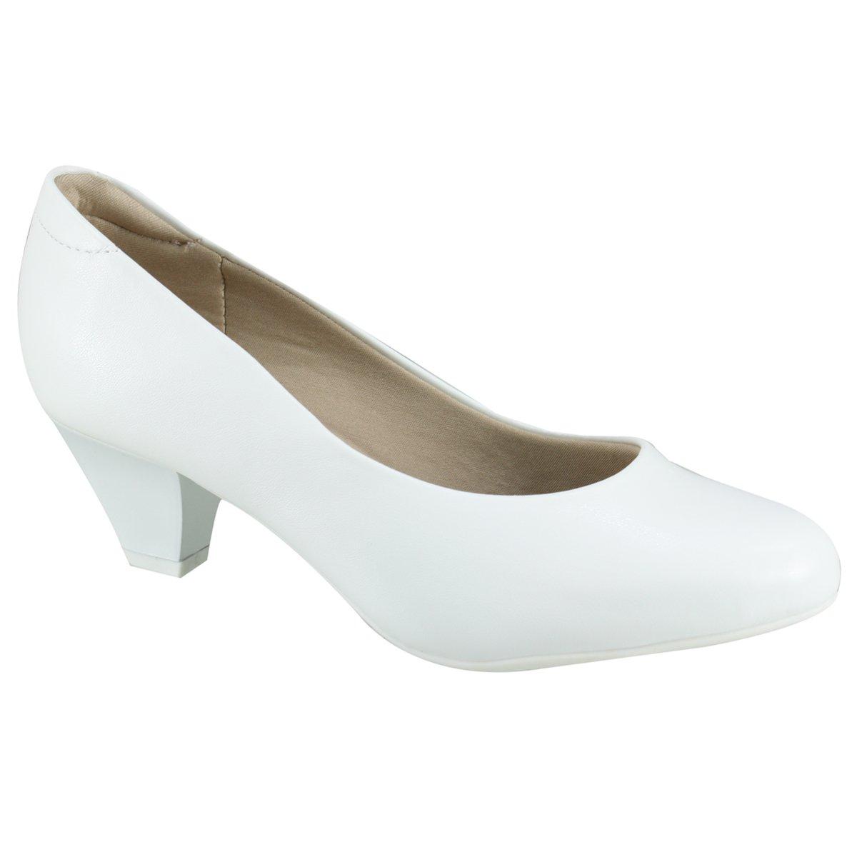 fb8ad4910 Sapato Feminino Modare Ultra Conforto 7005.600 5536 16072 Branco (Napa  Sense Flex)