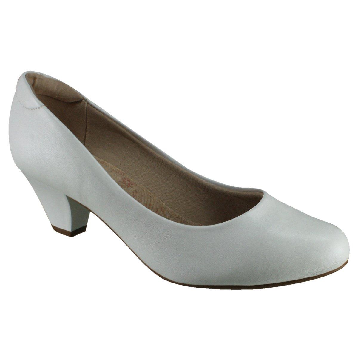 314b6180a Sapato Feminino Modare Ultraconforto 7005.100 7695 16072 Branco (Napa Sense  Flex)
