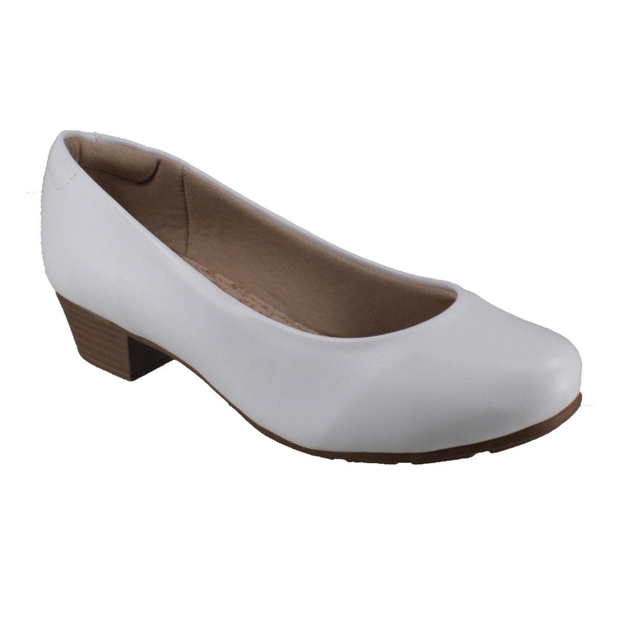 a8c8dc4fb Sapato Feminino Modare Ultraconforto 7032.200 16072 Branco (Napa Sense Flex)
