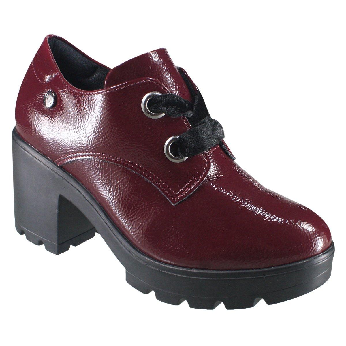 353c98e3e9 Sapato Feminino Oxford Quiz 69-69230 - Bordo (Verniz Show ...