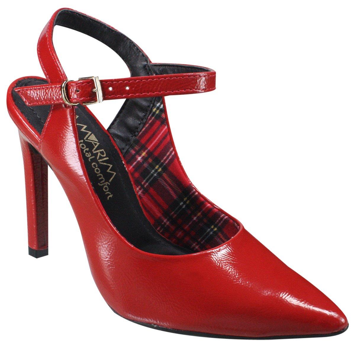 fdbc648132 Sapato Feminino Ramarim Total Comfort 18-94101 000001 Vermelho (Verniz Show  Plus)