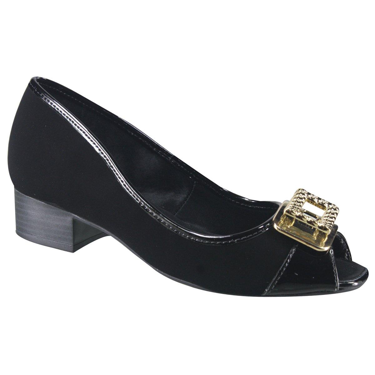 d796b61c76 Sapato Feminino Ramarim Total Comfort Peep Toe 17-92205 000004 ...