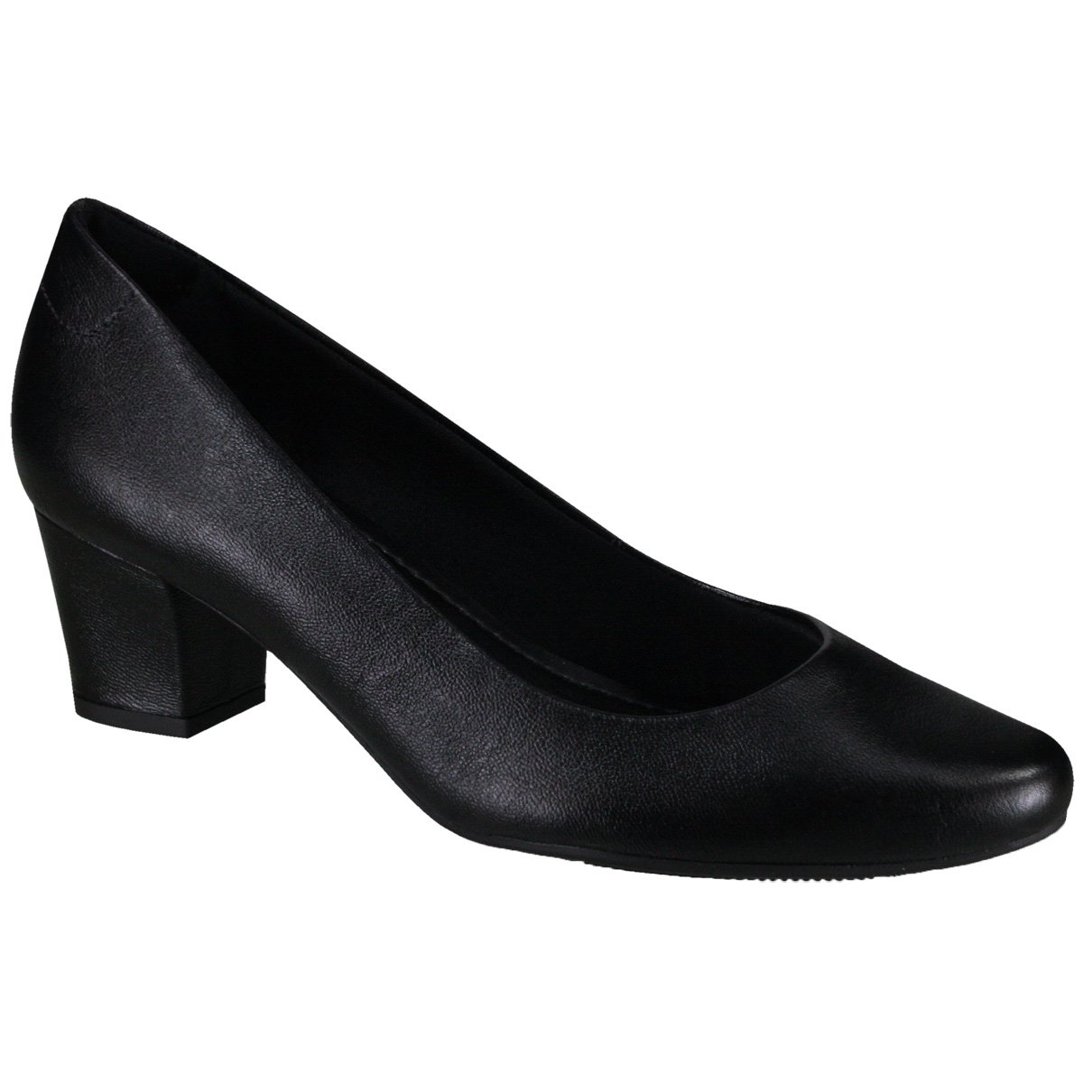 753977bc3 Sapato Feminino Usaflex Q6601/10 - Preto (Caprina) - Calçados Online ...