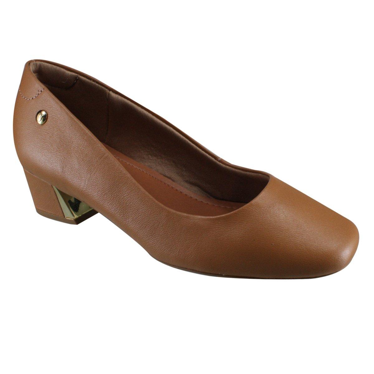90a1dfbe5 Sapato Feminino Usaflex S6501/61 - Camel (Caprina) - Calçados Online ...