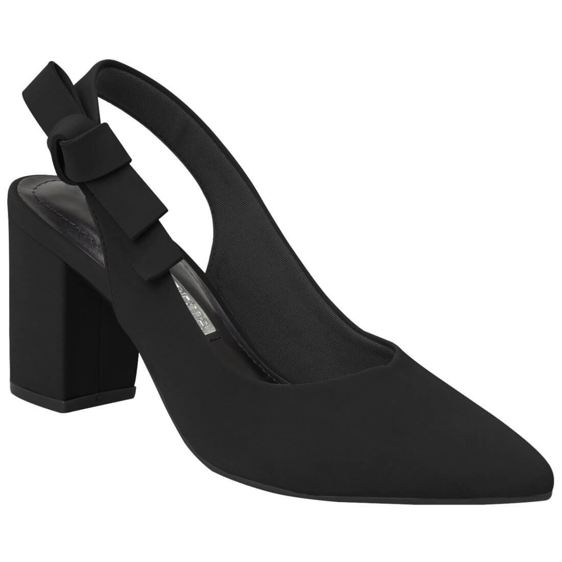 a6f874084 Sapato Feminino Via Marte Chanel 19-7204 - Preto (Nobuck) - Calçados ...