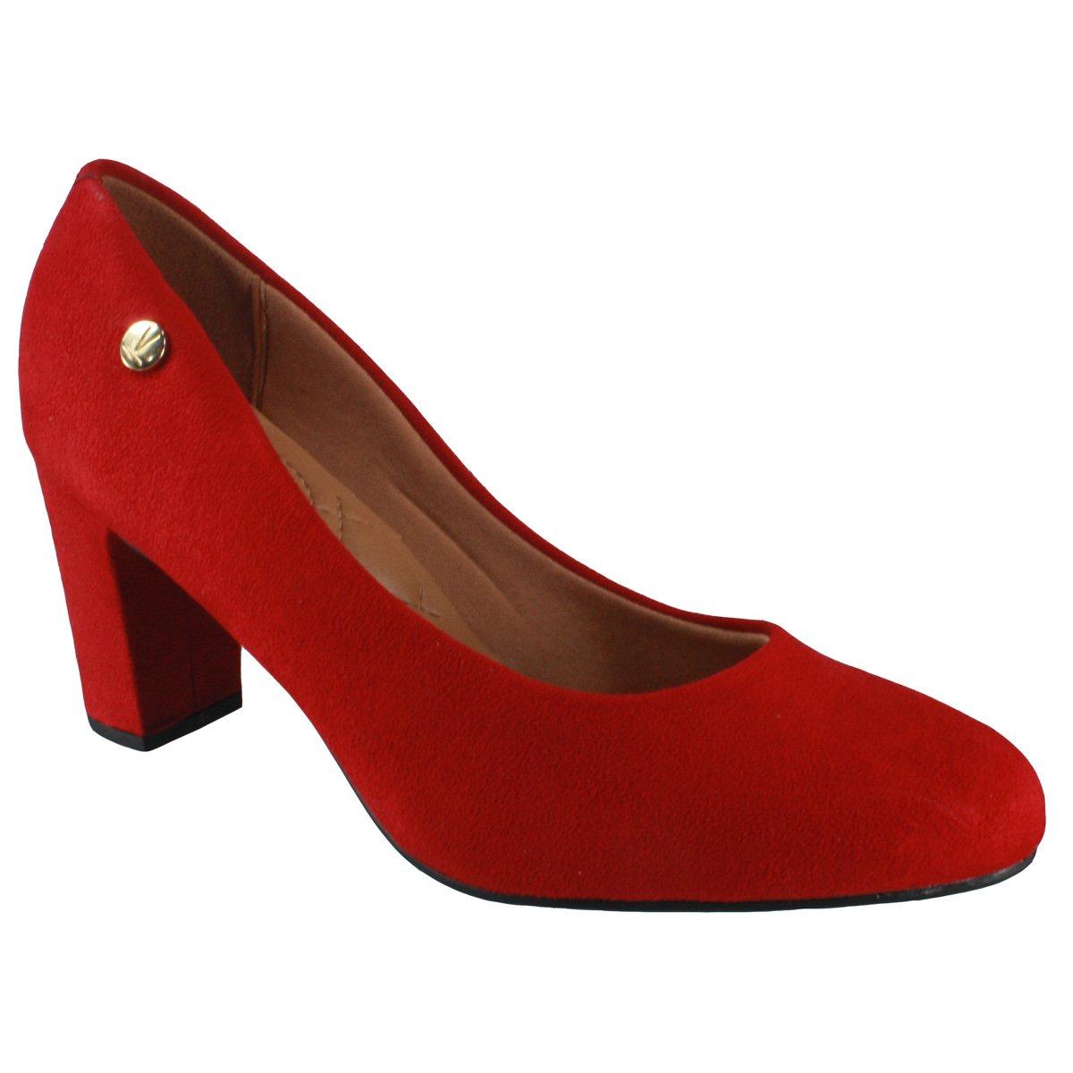 b6b7de084 Sapato Feminino Vizzano 1288.100 5881 46175 - Vermelho (Camurça Flex ...
