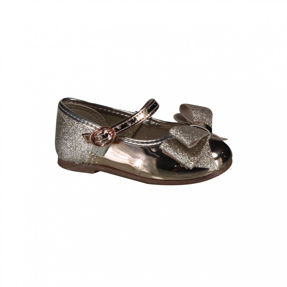 426876b06 Sapato Infantil Molekinha Bebê 2106.176 13290 52118 Ouro Rosado/Dourado  (Metal Glitter)