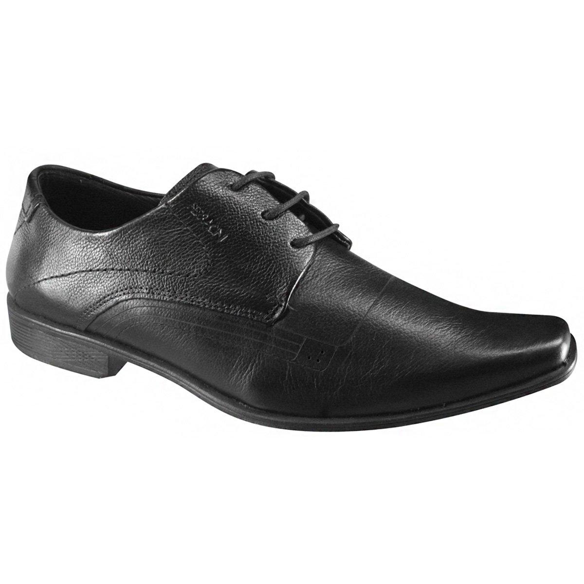 b104cab21a Sapato Masculino Ferracini Chile 5070-223G Preto (Napa Sky)