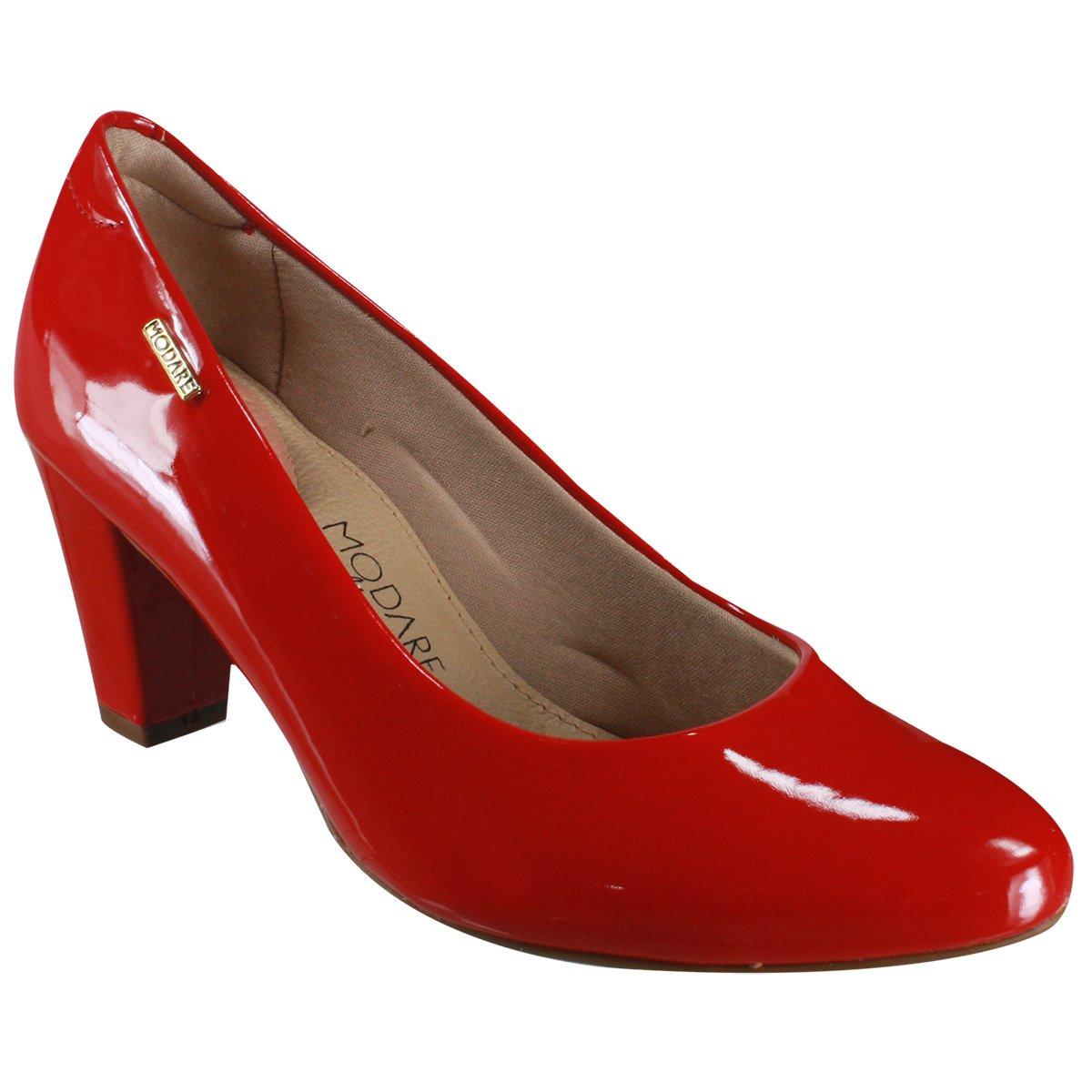 5e207a028 Sapato Modare Ultraconforto Casual 7305.100 13488 46175 Vermelho (Verniz  Premium)
