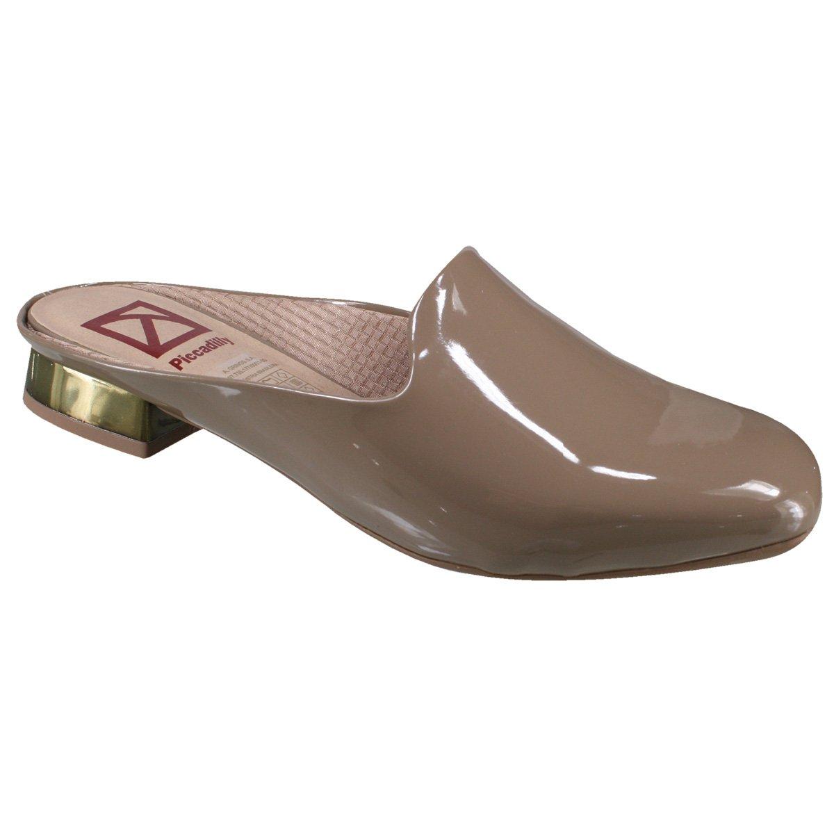 04daca132 Sapato Mule Piccadilly 218001 - Taupe (Verniz) - Calçados Online ...