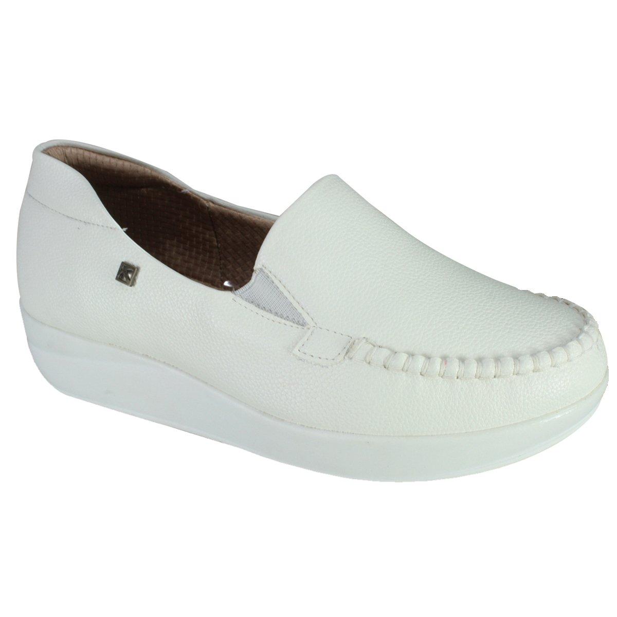828ac299d6 Sapato Piccadilly Feminino 214019 - Branco (Relax) - Calçados Online ...