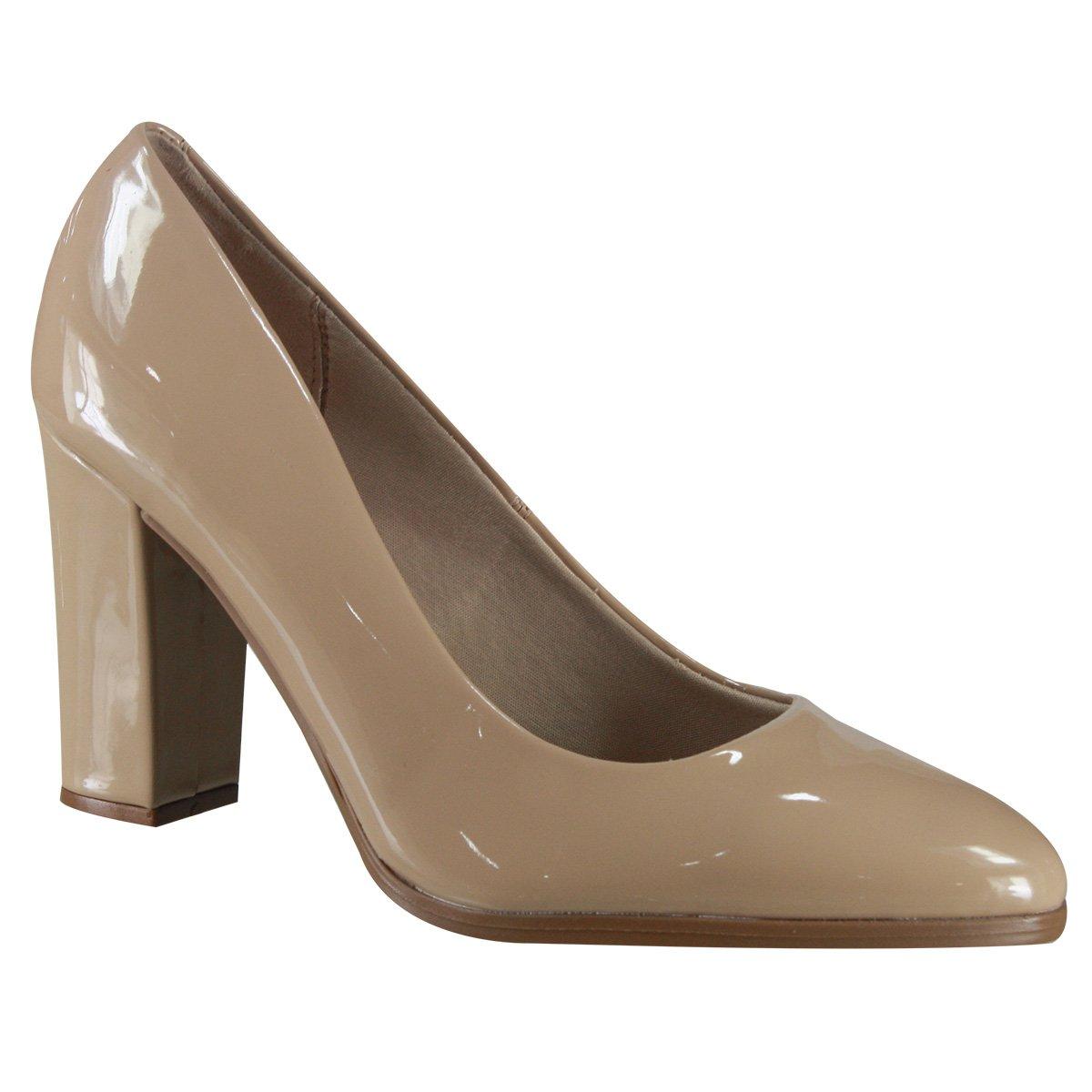 c664304ac6 Sapato Scarpin Beira Rio Conforto 4209.100 13488 29452 Bege (Verniz Premium)