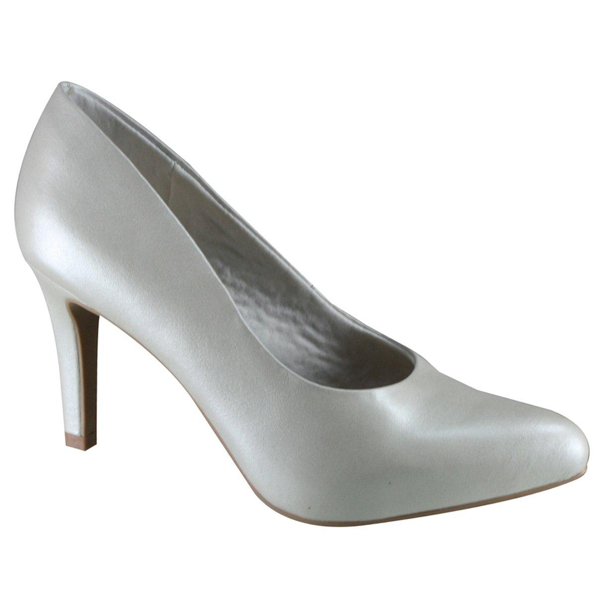 22966905b Sapato Scarpin Usaflex Y3601 01 Branco (Acetinado)