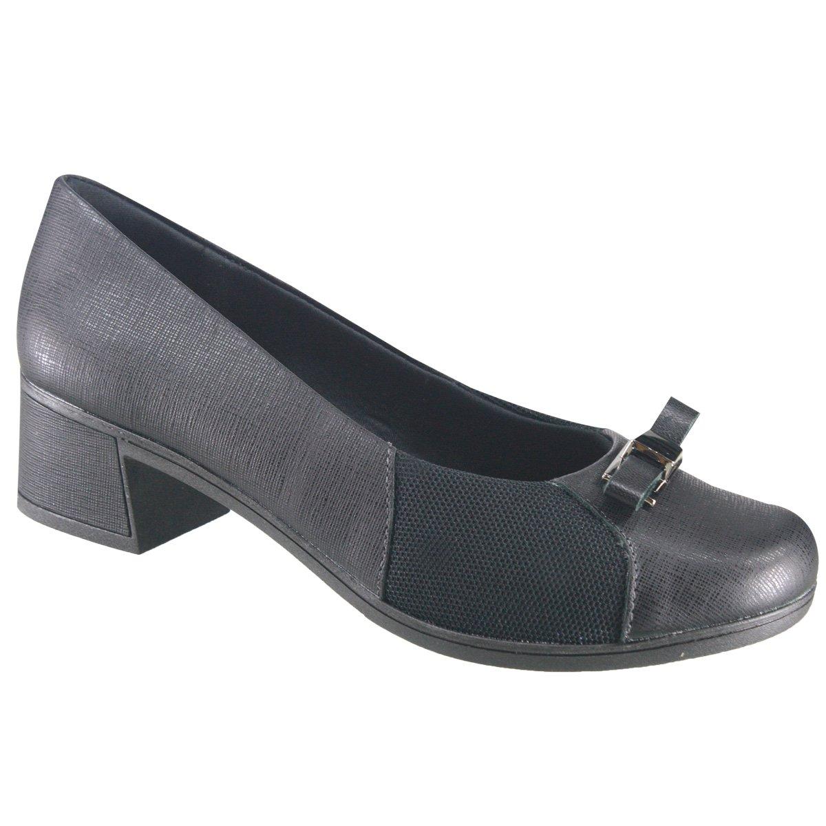 b9142d32c Sapato Usaflex Care Joanetes V8408/01 - Preto (Safiano) - Calçados ...