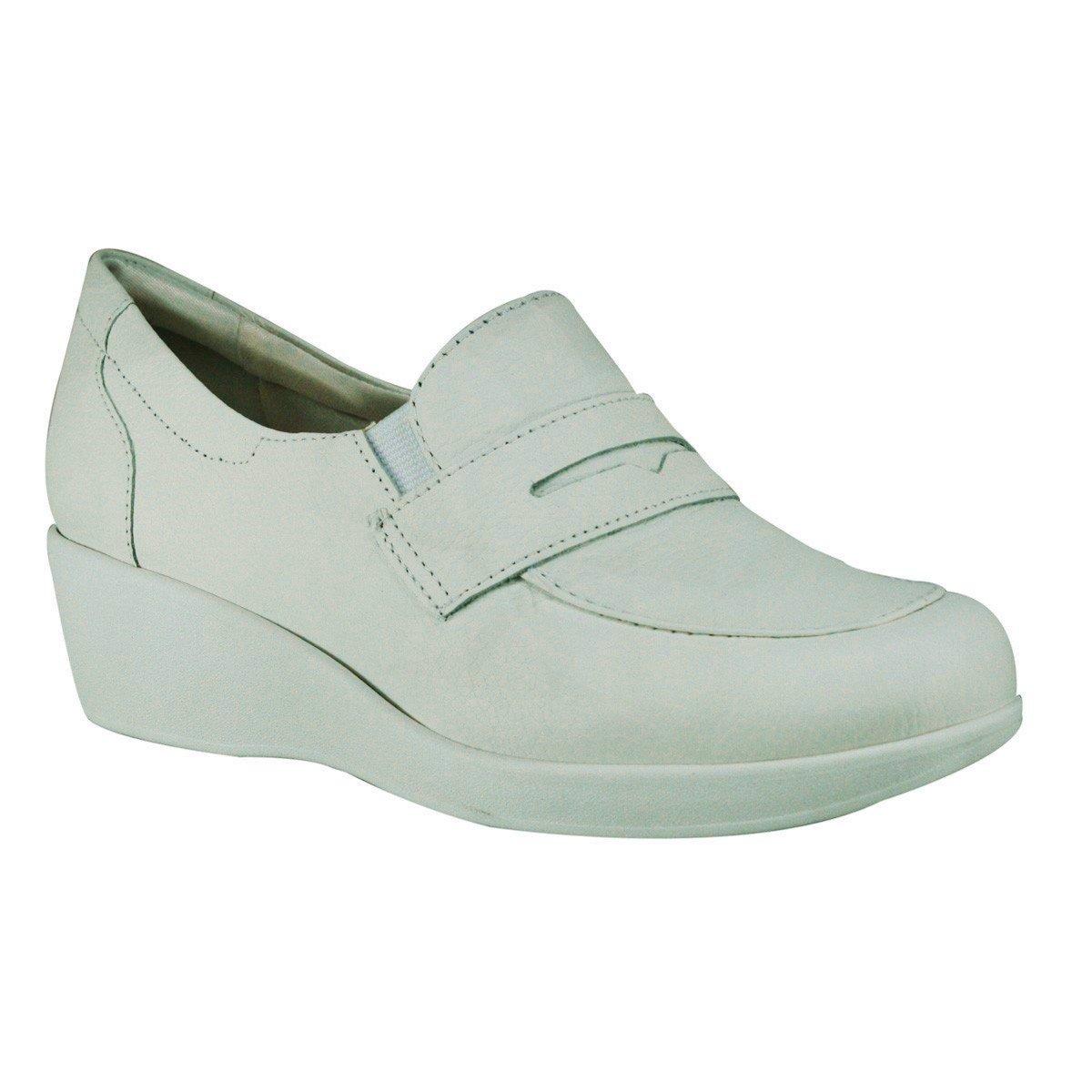 76d441e636 Sapato Usaflex Pró-Conforto L3202 - Branco (Cabra Soft) - Calçados ...