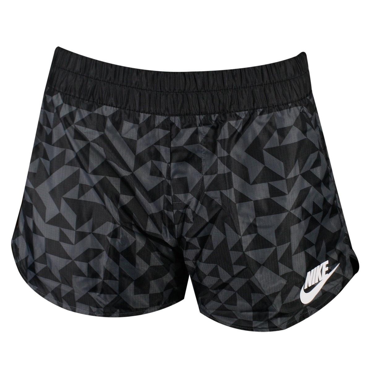 Short Feminino Nike Tangrams 829731 010 Cinza Preto 6eeb92d879f58