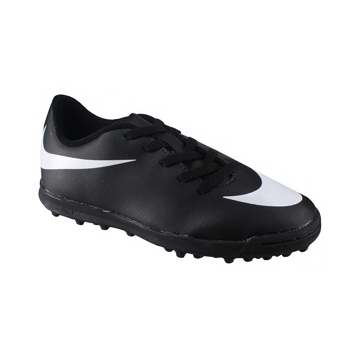 Chuteira Society Infantil Nike JR Bravata TF 768921-011 Preto Branco bb0699b8edba7