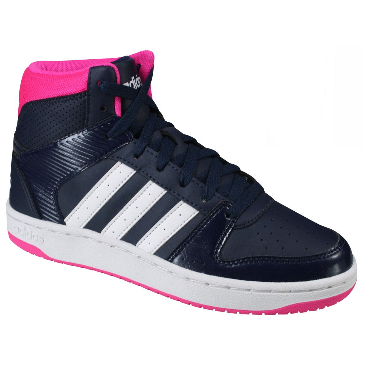 2b1616a2cbcdd Tênis Adidas VS Hoopster MID W AW4763 Marinho Rosa