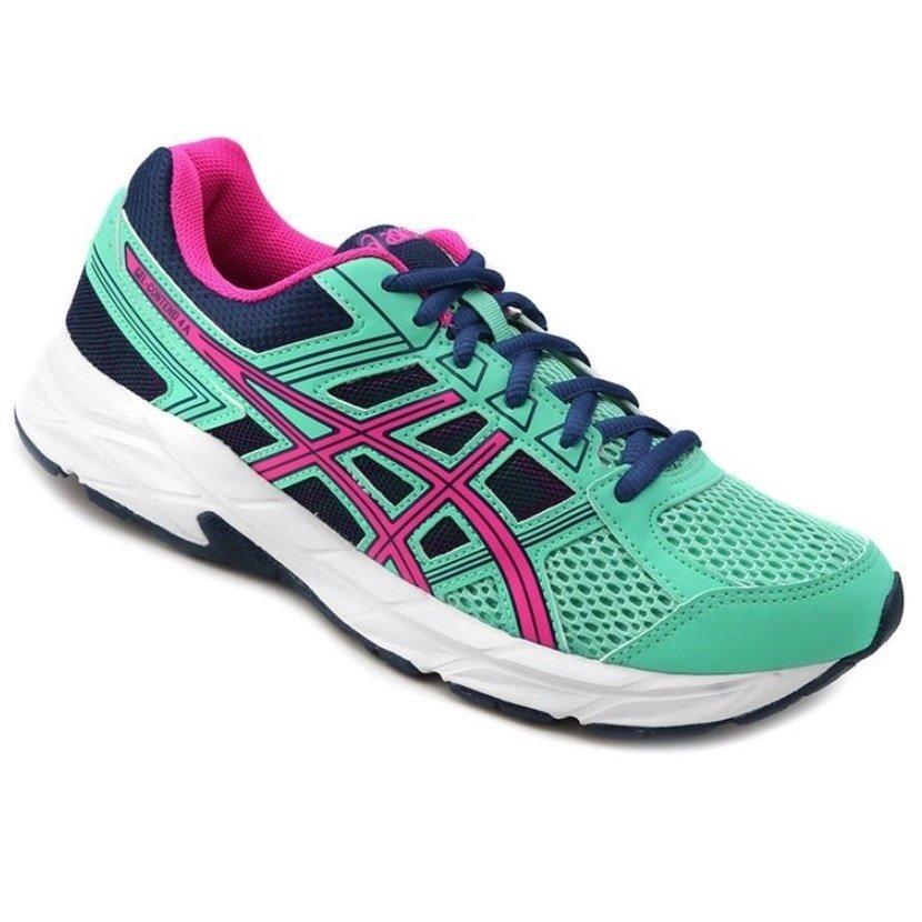 Tênis Feminino Asics Gel-Contend 4 A T076A-7807 Verde Rosa 40a100cccc024