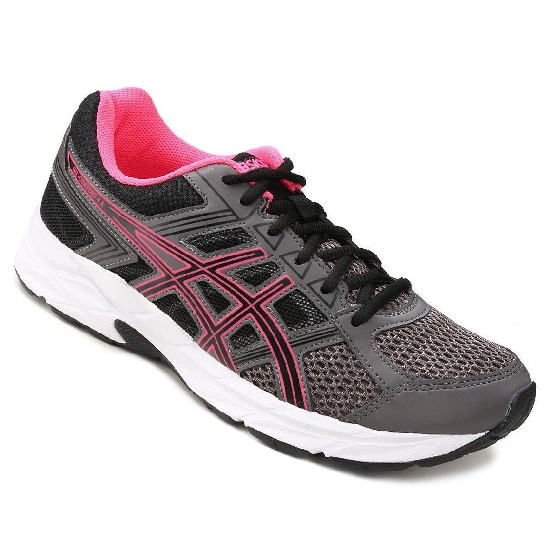 Tênis Feminino Asics Gel-Contend 4 A T076A-9490 Chumbo Pink e8745f6e9af50