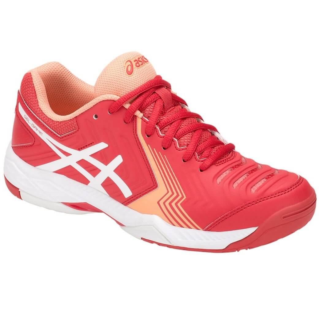 abecb3449 Tênis Feminino Asics Gel-Game 6 E755Y-600 - Vermelho Branco ...