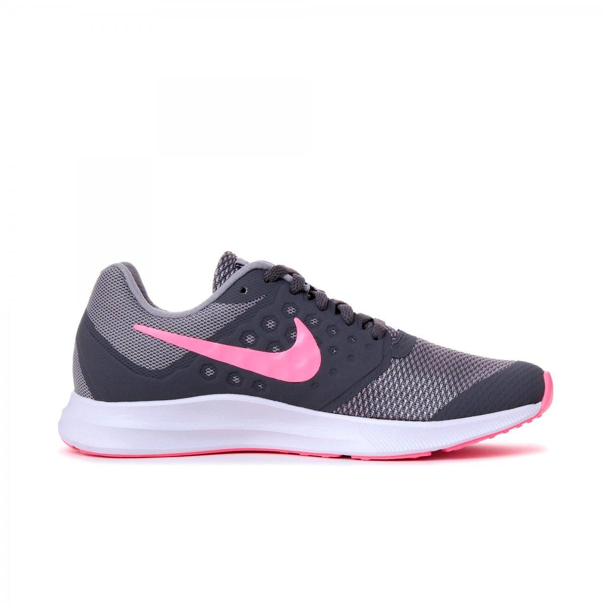 44f5a55b93 Tênis Infantil Nike Downshifter 7 (GS) 869972-003 - Cinza/Rosa ...