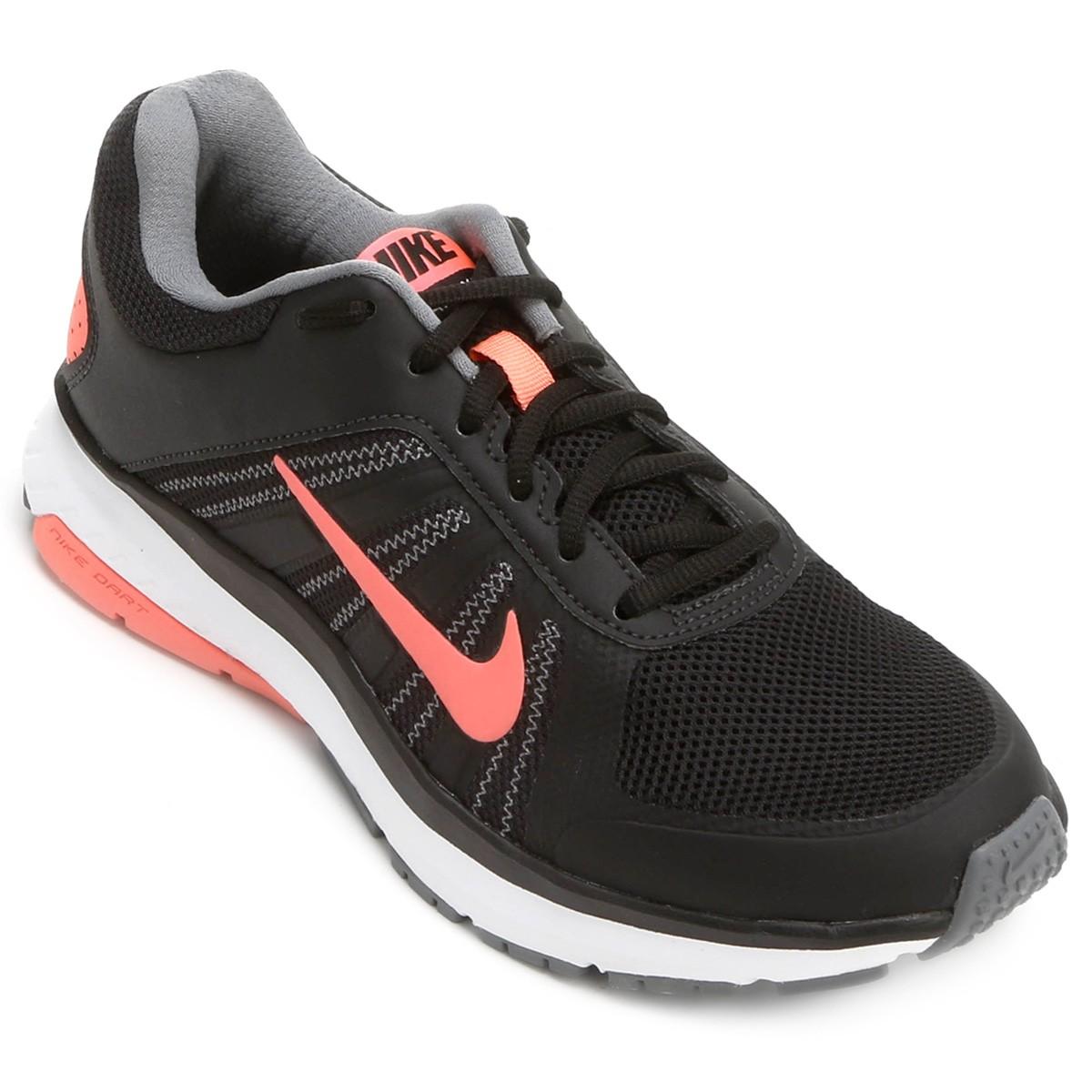 9190a750b Tênis Feminino Nike Wmns Dart 12 Msl 831539-003 Preto Salmão