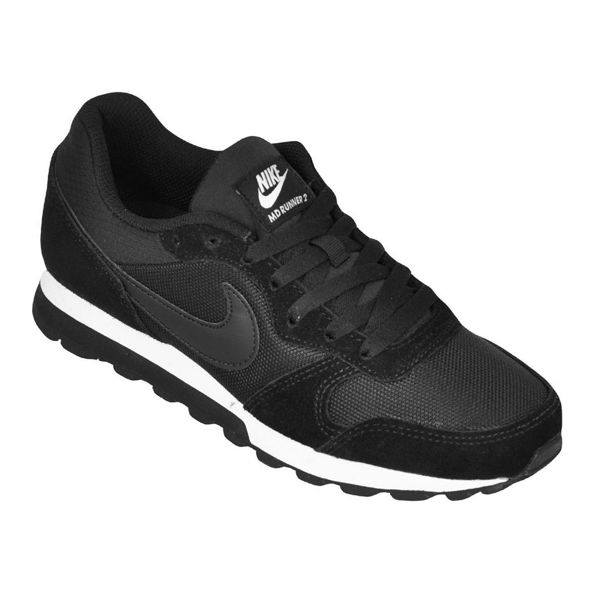 Tênis Feminino Nike WMNS MD Runner 2 749869-001 - Preto Branco ... 67b4692ffe202