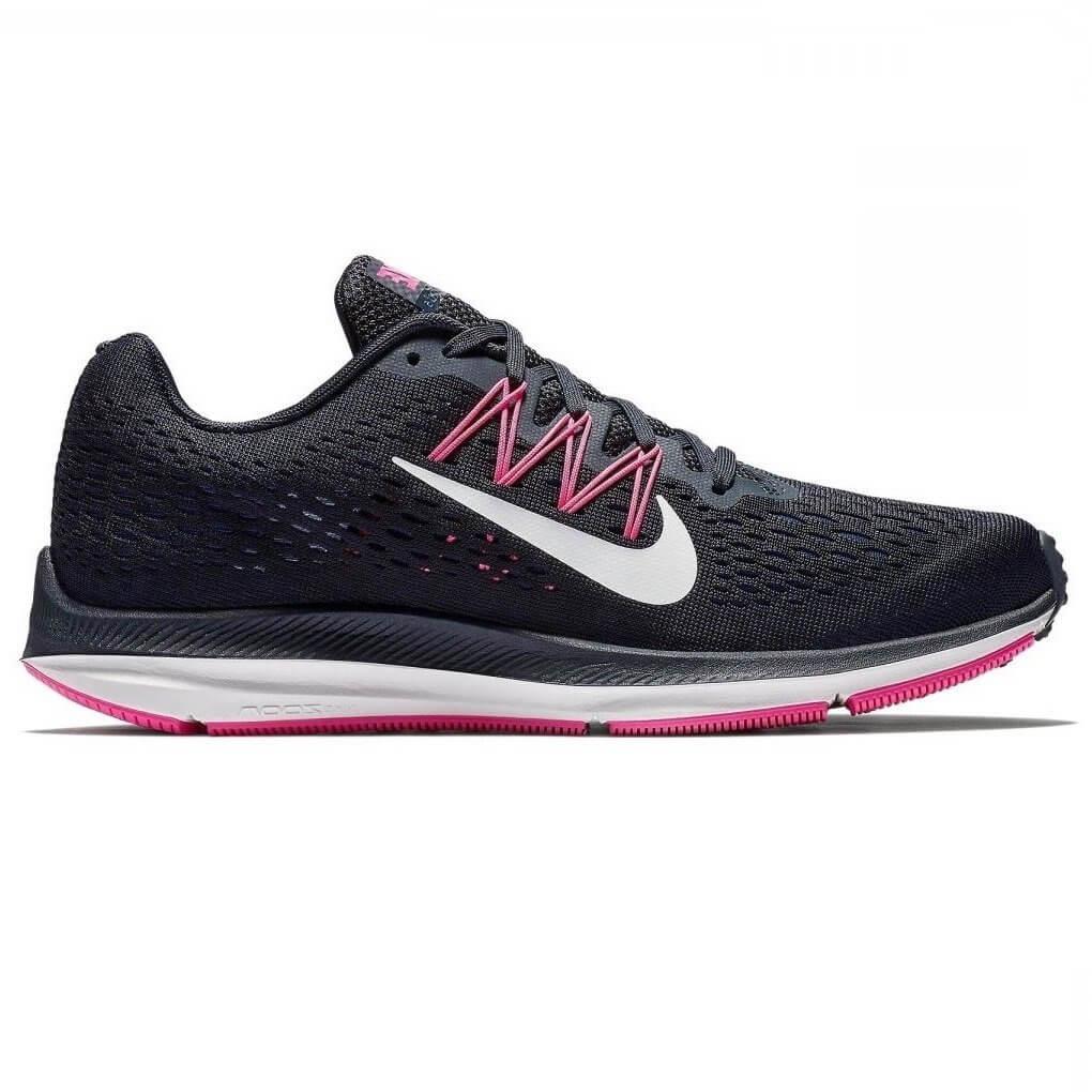 ad5329b850a Tênis Feminino Nike Zoom Winflo 5 AA7414-401 - Preto Pink - Calçados ...