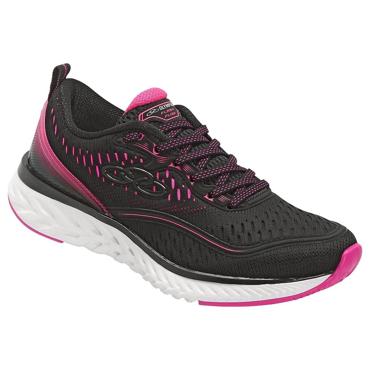 1d06017a26 Tênis Feminino Olympikus Flash Flow 556 - Preto Pink - Calçados ...