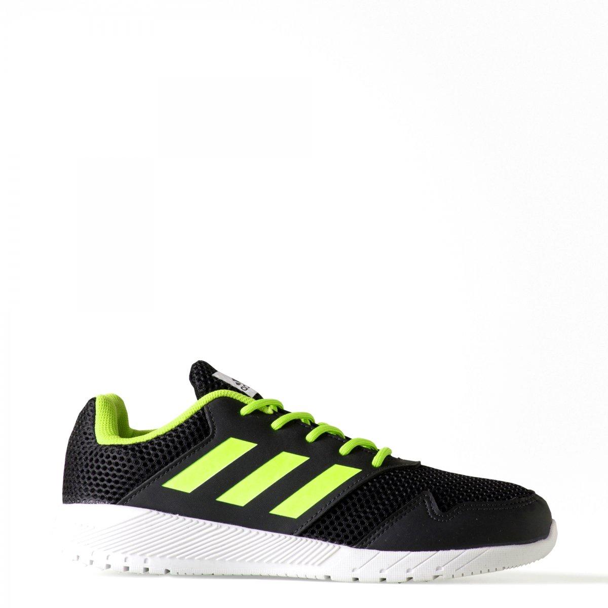 5bc4a8b9dea Tênis Infantil Adidas QuickRun Jr H68495 - Preto Verde - Calçados ...