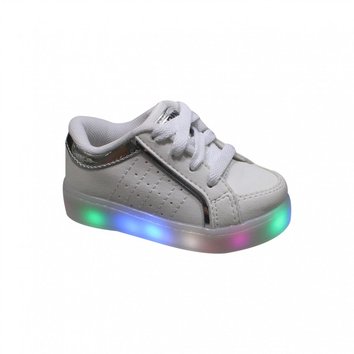 00bb07dc1c418 Tênis Infantil Brink Com Led Light Color 38.021.001 - Branco (Light ...