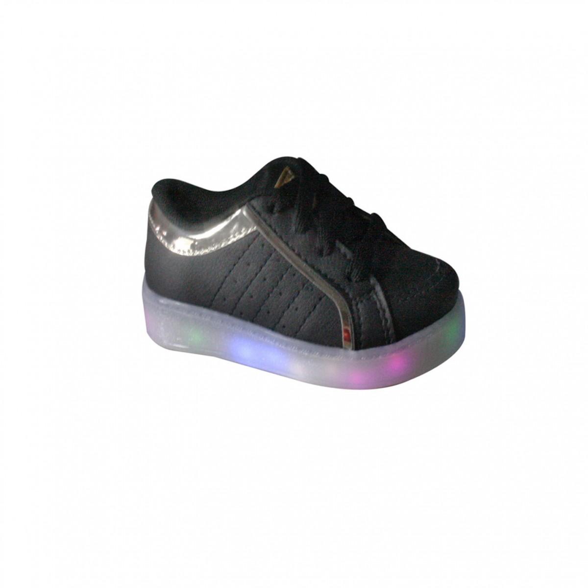 01353c8aab1 Tênis Infantil Brink Com Led Light Color 38.021.002 Preto (Light Color)
