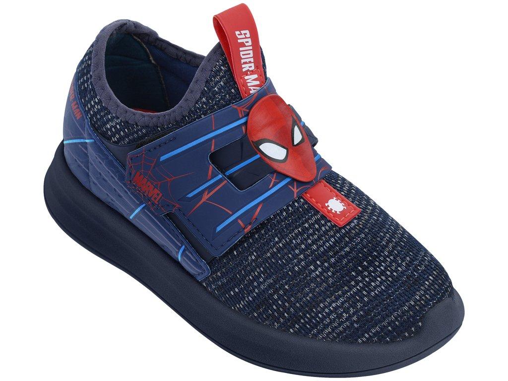 4cf1a5908c Tênis Infantil Grendene Homem Aranha Web 21903-21818 Azul Azul Vermelho