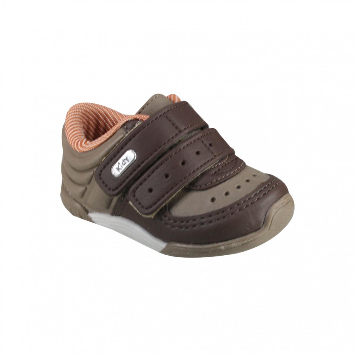 Tênis Infantil Kidy Colors 008-0386-4502 Castanho Marrom Ocre 350bbff510592