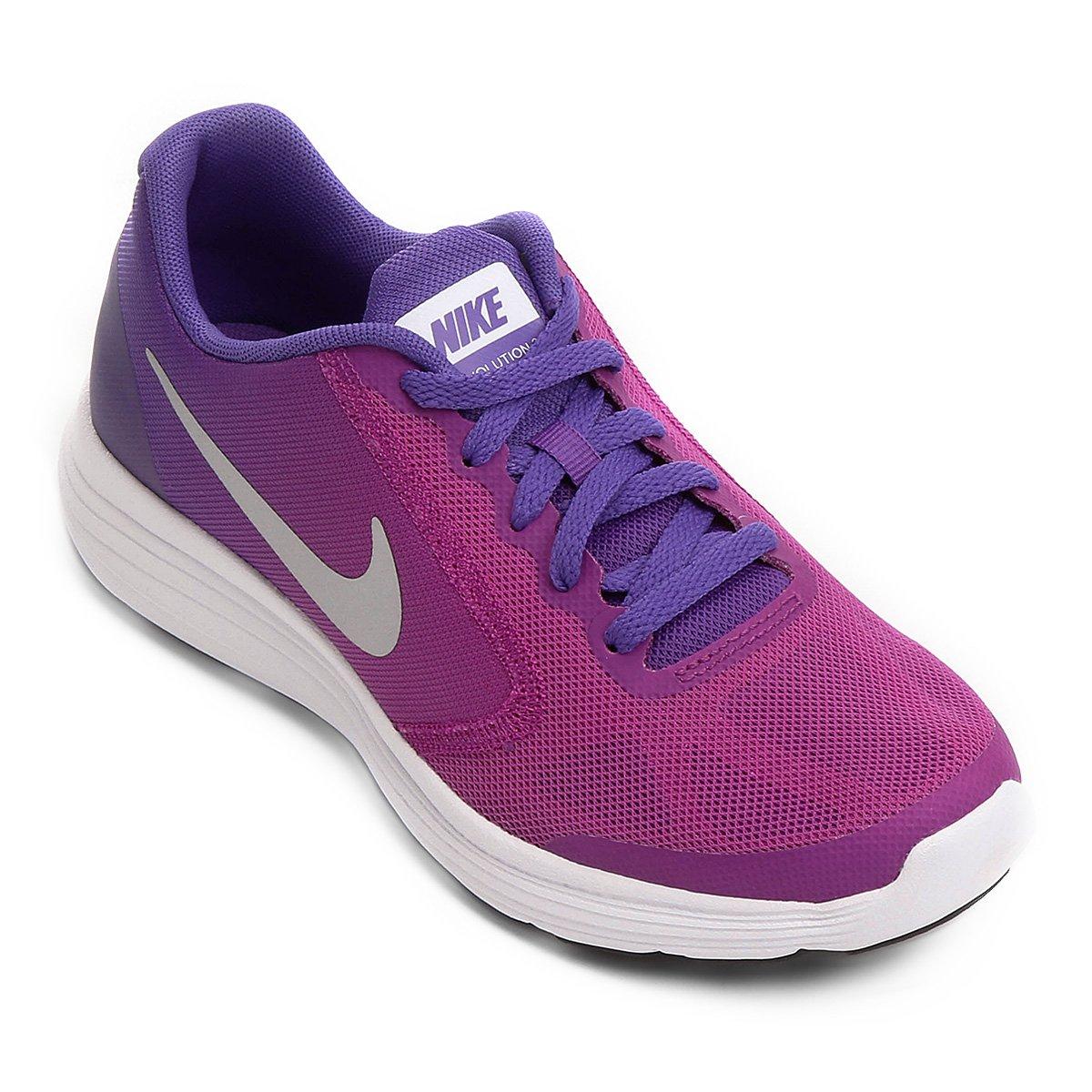 cca40dccd8d Tênis Infantil Nike Revolution 3 (GS) 819416-503 Violeta