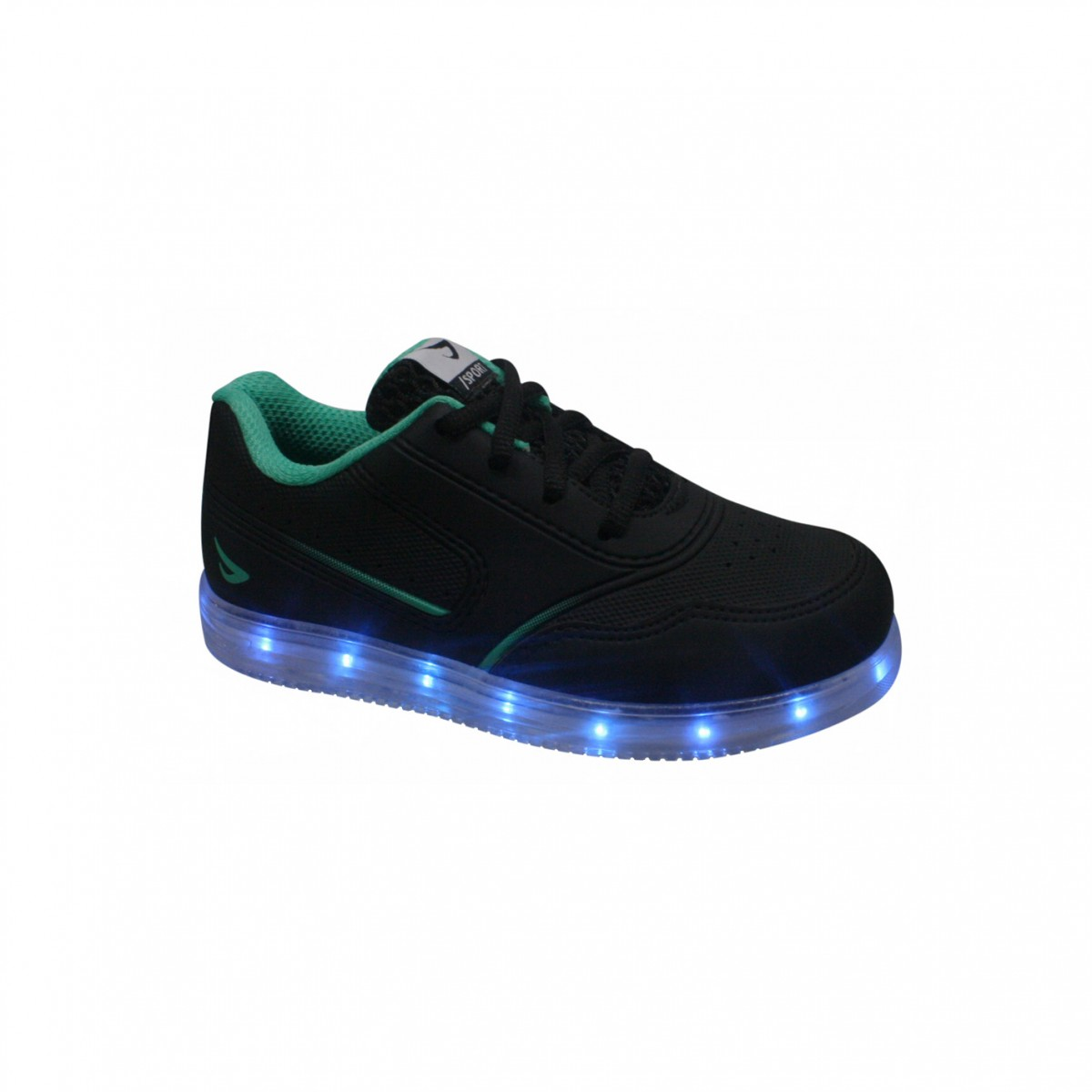 Tênis Infantil Ortopé Color Com Luz de LED 22110001 - Preto (Velvet ... f8fcdac10d08b