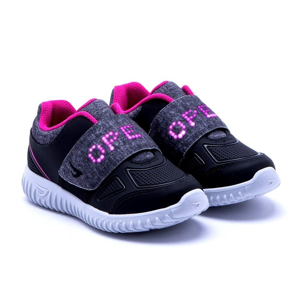 085a98eb8 Tênis Infantil Ortopé Letra Led (Com Luz) 22590003 - Preto/Pink ...