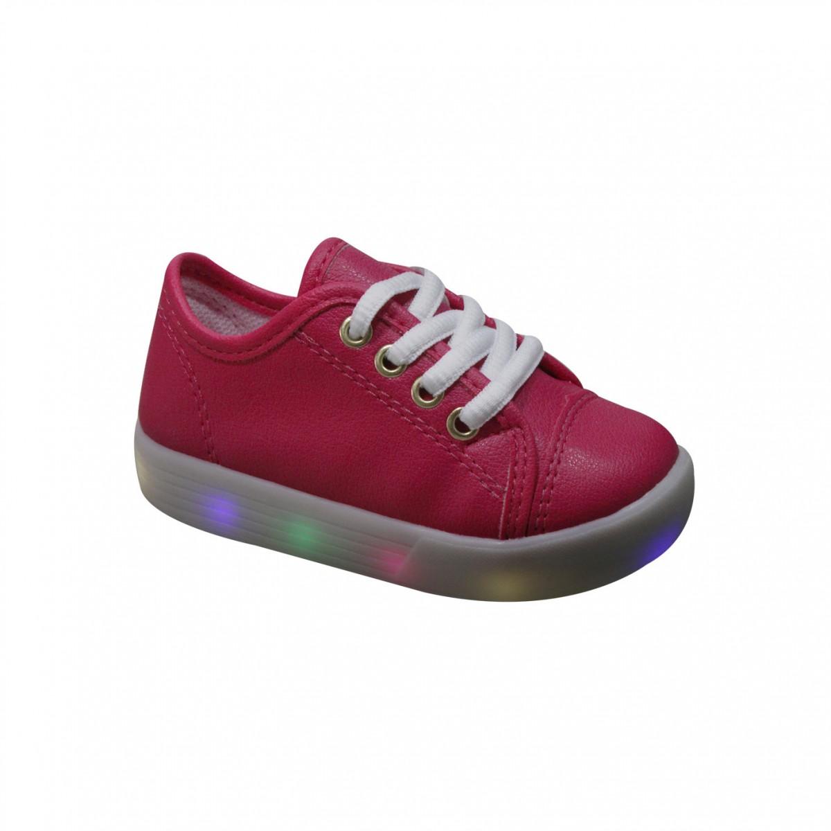 e5ea2f660 Tênis Infantil Pinókio Com Luz de Led 26.500 410 Pink