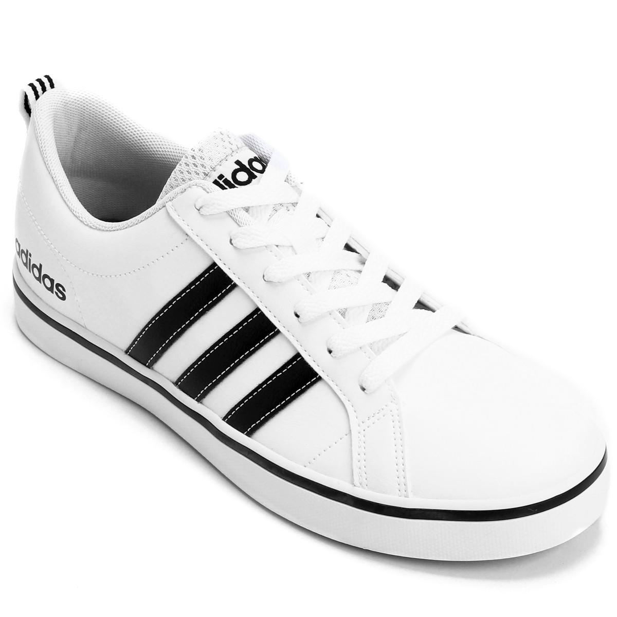 fa242a9fc04e4 Tênis Masculino Adidas Pace Vs AW4594 Branco Preto