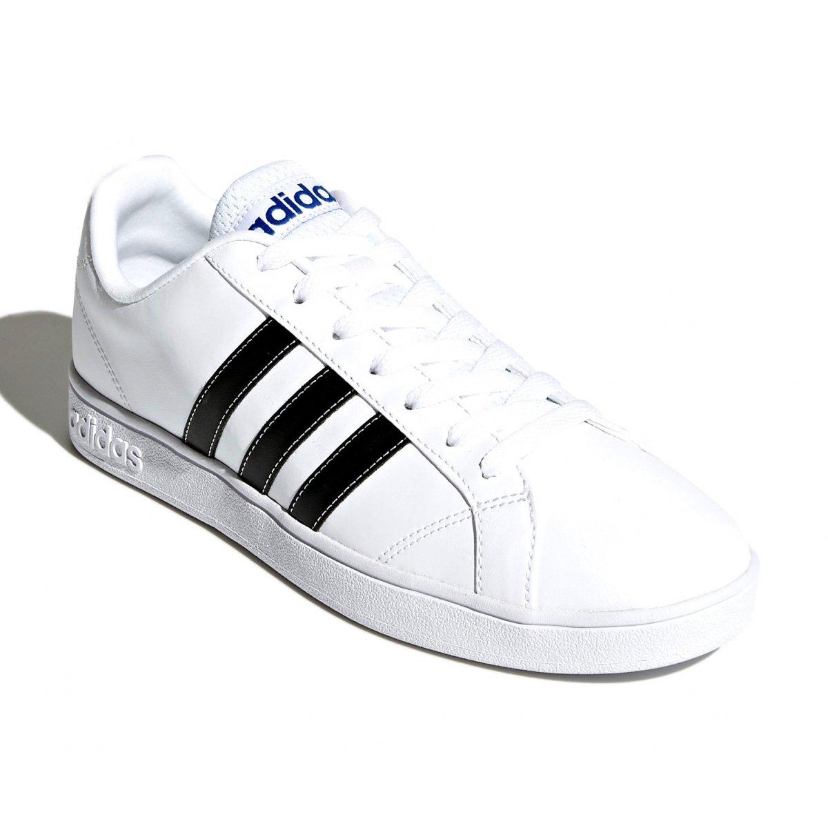 90d434c4f2d Tênis Masculino Adidas VS Advantage F99256 - Branco Preto - Calçados ...