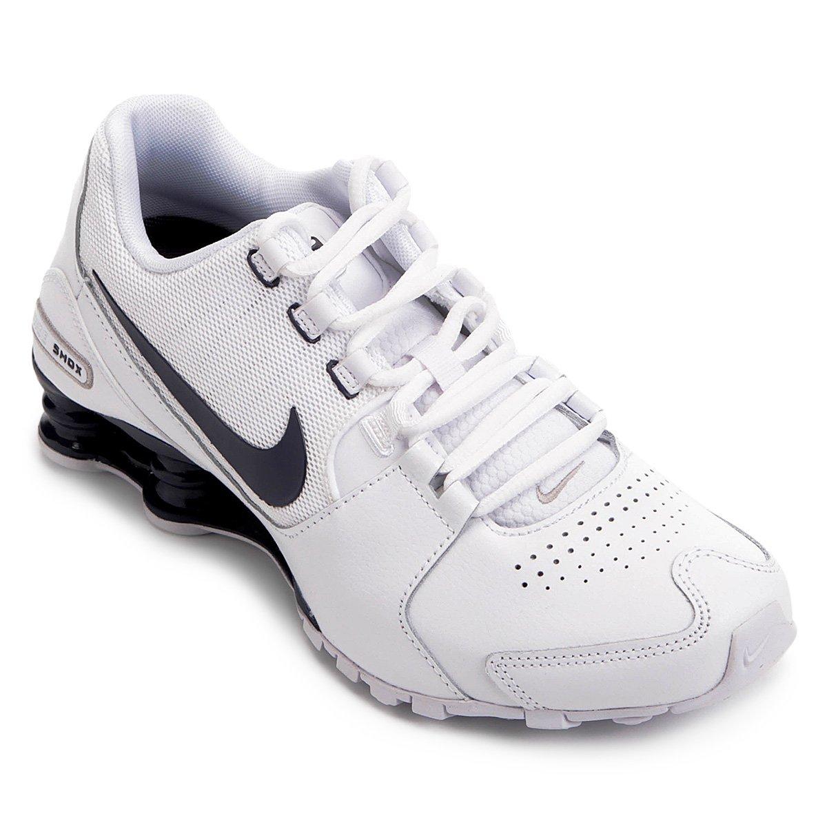 83330ea03a036 Tênis Masculino Nike Shox Avenue LTR 833584-104 - Branco Marinho ...