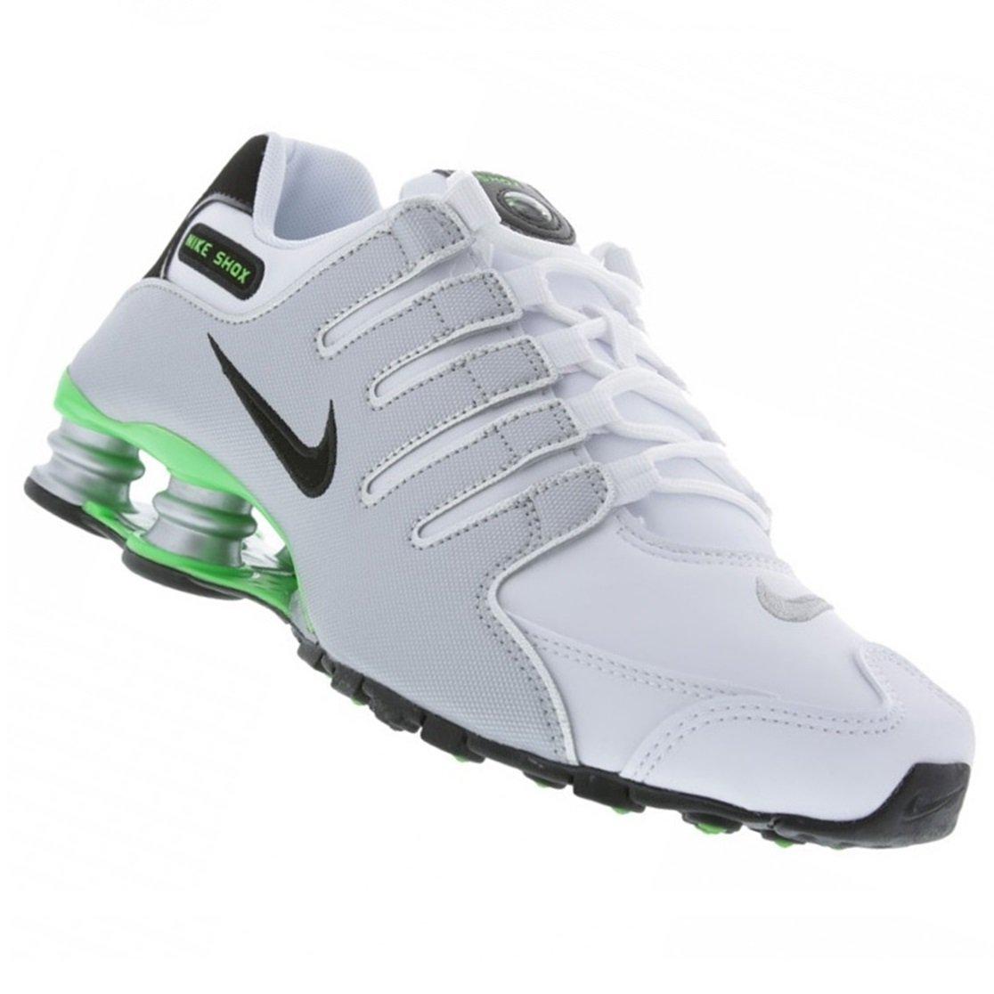 Tênis Masculino Nike Shox NZ 378341-113 - Branco Prata Verde ... 7abd7e3784a3c