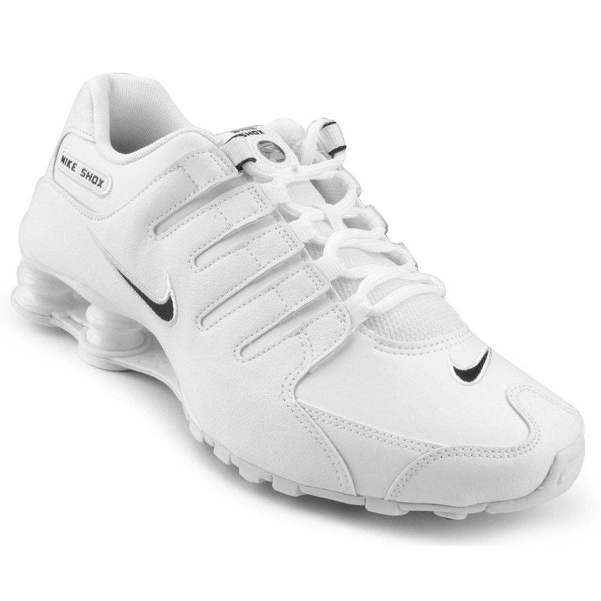 33d9f3d91ea Tênis Masculino Nike Shox NZ EU 501524-106 - Branco Preto - Calçados ...