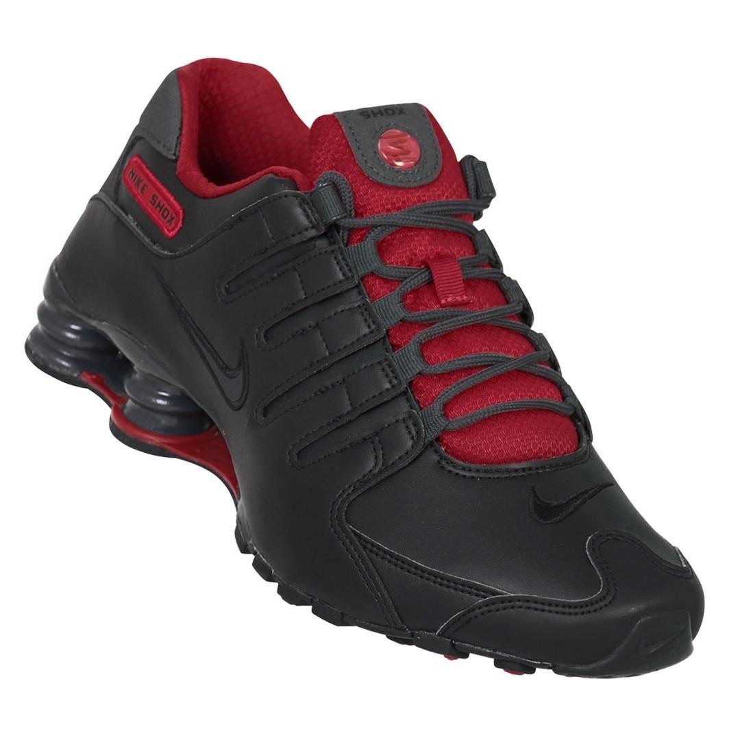 2361bf4123 Tênis Masculino Nike Shox NZ SE 833579-003 - Preto Vermelho ...